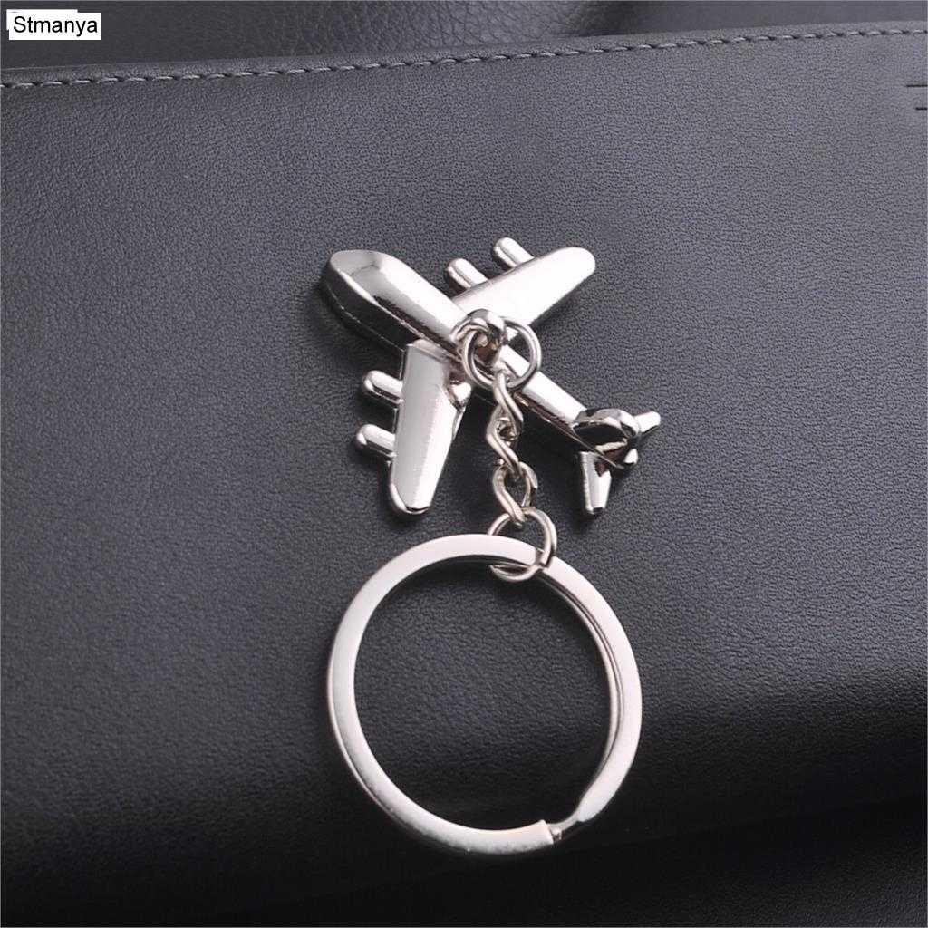 Keychain Modern Fighter Aircraft Airplane Key Chain Mini aircraft Key Ring  Bag Pendant Car Keyring For 7fdadb456