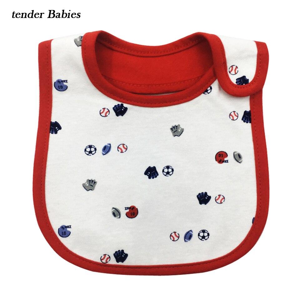 Baby Bib Baberos Bebes Cartoon Bandana Bibs Bavoir Cotton Towel Slobber Waterproof Layer 0-3Y menino Baby Girl Boy Bibs