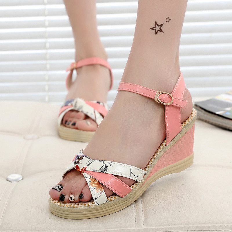 Female Sandals Wedge Platform Casual-Shoes Open-Toe Summer-Style