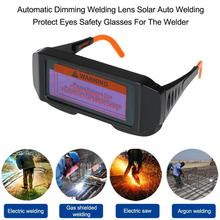 Solar Powered Auto Dimming Darkening Welding Goggles LCD Protective Lightening Argon Arc Gas Cutting Eye Protection Safety Mask недорго, оригинальная цена