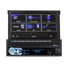 HD de Toque Do Carro Tela Retrátil Cassete Multimídia Universal Capacitiva de 7 polegadas MP5 Player suporte a Bluetooth USB/AUX/SD/FM