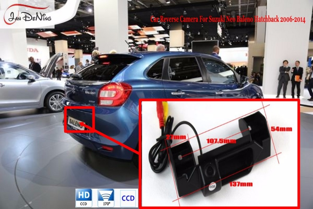 JanDeNing Trunk Handle OEM/WaterProof CCD Car Rear View Parking/Backup Reverse Camera  For Suzuki Neo Baleno Hatchback 2006 2014|trunk handle|backup reverse camera|car rear reverse camera - title=
