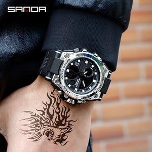 Image 3 - SANDA 739 relojes deportivos para hombre reloj de cuarzo militar de lujo de marca resistente al agua reloj de choque para hombre 2019 masculino