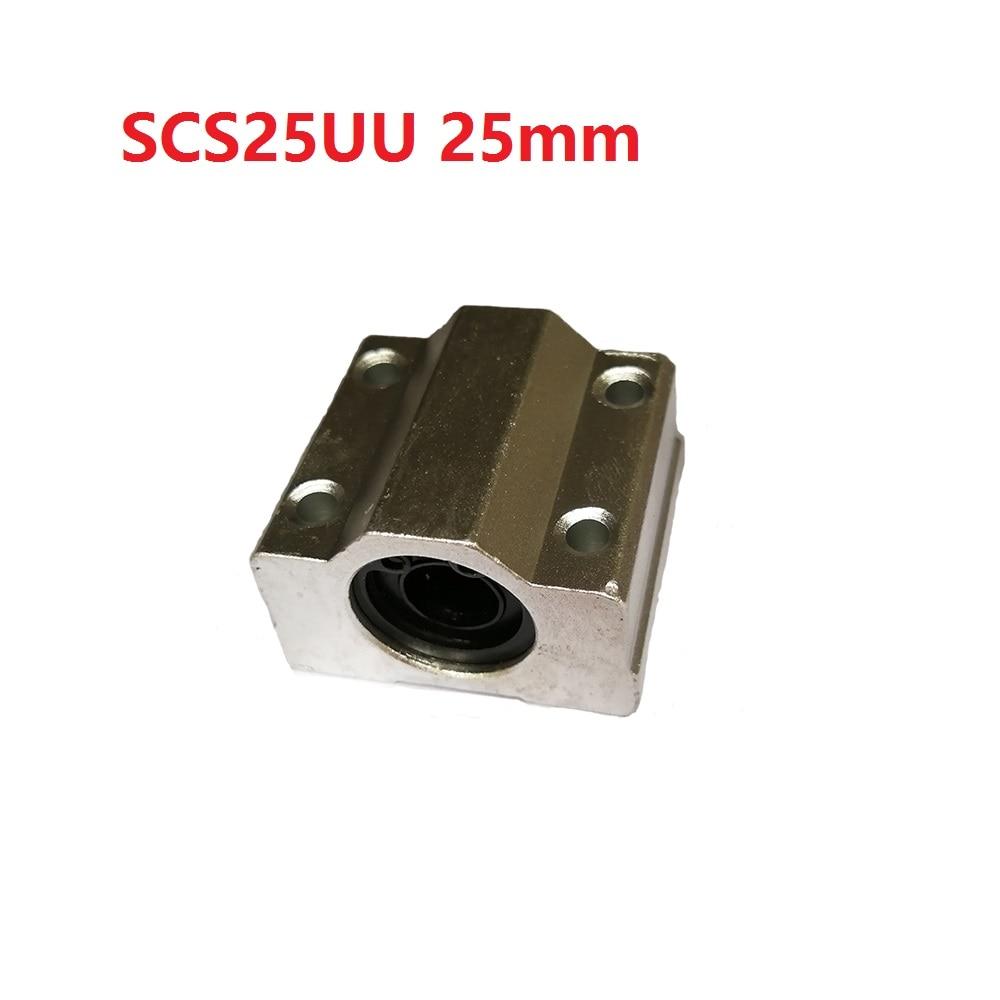 1PCS scs25uu 25mm sc25uu Linear Motion Ball Bearing CNC Slide Bushing for linear shaft 3D printer parts