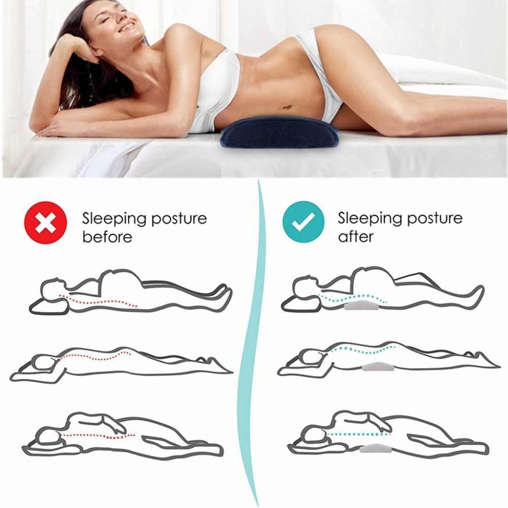 Busa Memori Tidur Bantal untuk Nyeri Punggung Bawah Ortopedi Dukungan Lumbar Bantal Sisi Tidur Kehamilan Maternity Tempat Tidur Bantal