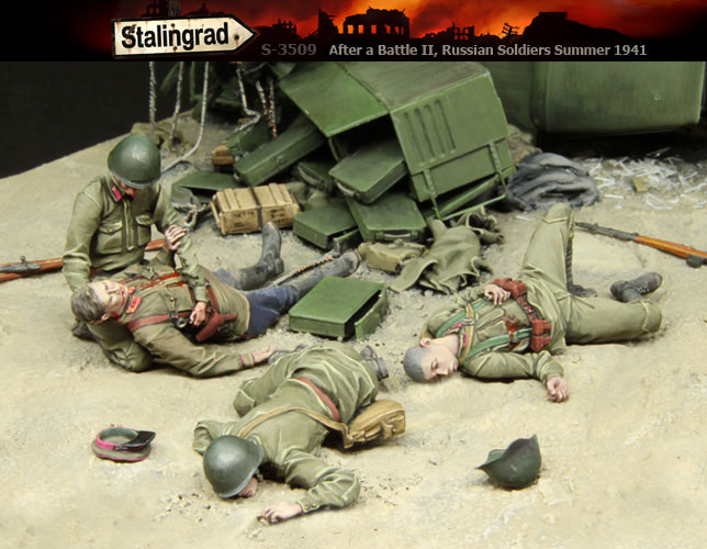 Resin Kits 1/ 35 WWII After a Battle II, Russian Soldiers Summer include 4 Resin Not color Model DIY TOYS new WWII WW2 1 30 wwii german set temporary headquarters cheetah jeep 166 soldiers alloy construction fm