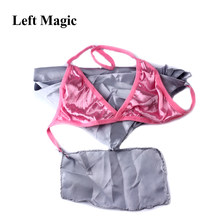 Baffling Bra Silk Scarf Underwear Brassiere Magic Tricks scarf silk to panty Stage Props Accessories Gimmick Comedy G8017(China)