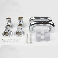 X Shape Air Hanger Connecting Accessory Aluminum Alloy Elbow Shaft Joint for 29.4mm Pipe Fittings 1set