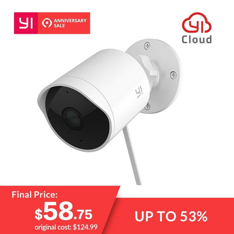YI al aire libre cámara de seguridad 1080 P impermeable de la visión nocturna IP inalámbrica de la resolución de la cámara de seguridad sistema de vigilancia mundial de la nube