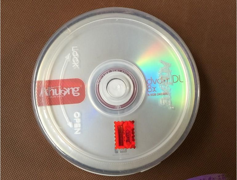 Wholesale 10 discs A+ Ahuang 8x 8.5 GB Blank Printed DVD+R DL