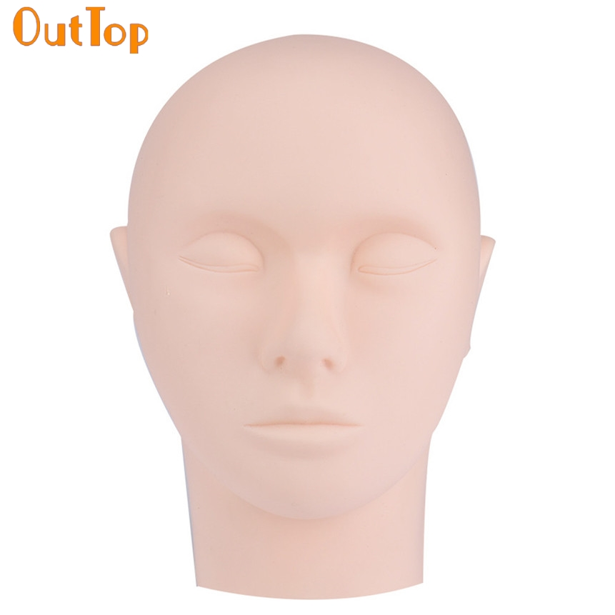 OutTop Love Beauty 1pc Pro Salon Personal Training Mannequin Flat Head Practice Make Up Eye Lashes
