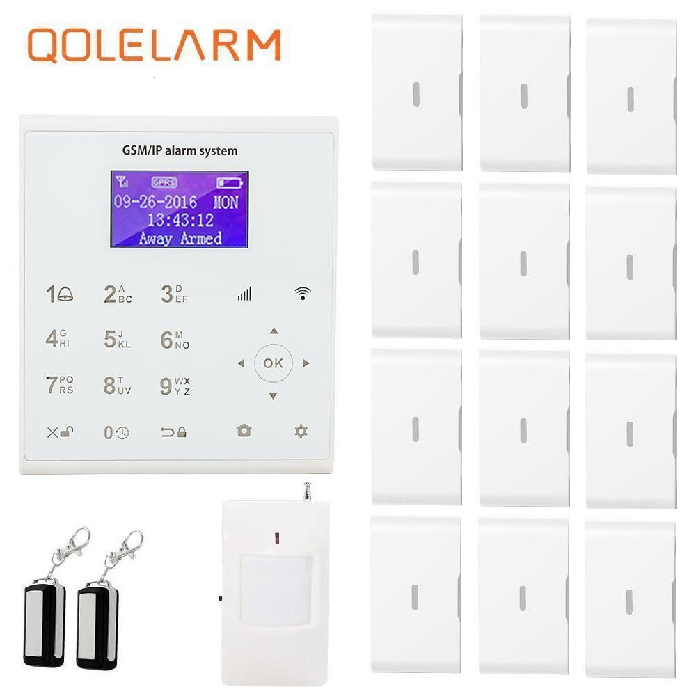 Qolelarm U8 WIFI GSM SMS Home Burglar Security Alarm System PIR Motion Detector APP Control vibration window break alarm 433 mhz intelligent home security alarm system with new door sensor pir detector app control sms gsm alarm system support rfid keypad