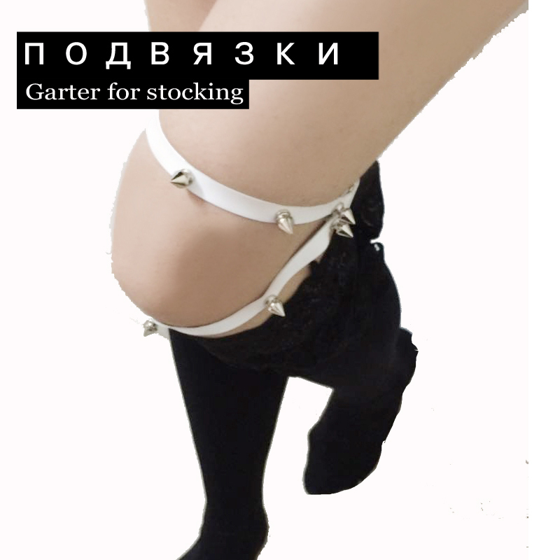 Energetic Popular Sexy Harajuku Style Pu Leather Garter Punk Leather Garters Leg Ring Harness Gifts One Free Adjustable Size For Women Garters Women's Intimates