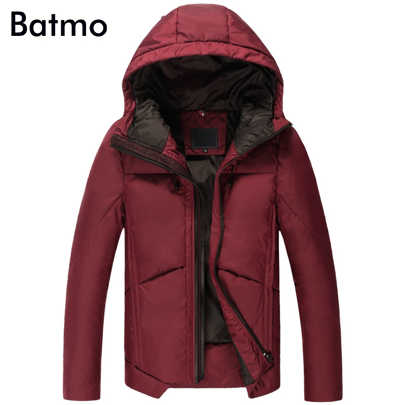 Down Jackets Back To Search Resultsmen's Clothing Batmo 2017 New Winter Keep Warm White Duck Down Hoody Casual Jacket Men,m,l,xl,2xl,3xl Navy Blue&wine Winter Coat Men B27 A Great Variety Of Goods