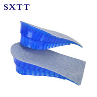 SXTT 1 Pair Hot New Comfy Unisex Women Men Silicone Gel Lift Height Increase Shoe Insoles Heel Insert Pad