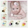 Мода малышей Младенческой ribbonFlower горный хрусталь оголовье новорожденные руководитель группы дети дети аксессуары для волос