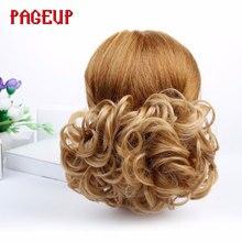 Pageup синтетические волосы Большой Пучок шиньон Эластичный гребень зажимы в наращивание волос шиньон аксессуары несколько цветов