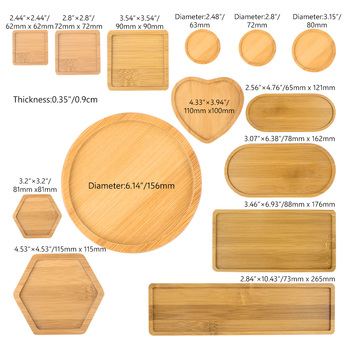 Flower Pots Nursery Planter Bamboo Tray Anti-Fade 14 Style Round Square Minimalism Gardening Supply Simple Rural Style