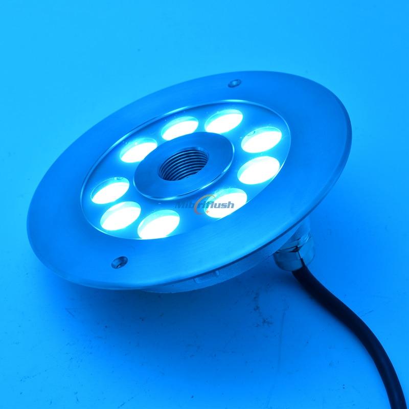 w 316 de aço inoxidável colorido mutável fonte lâmpada