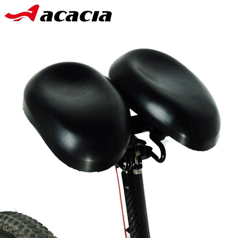 ACACIA Double Noseless Adjustable Bike Saddles Padded Multi-function Easyseat Ergonomical Dual Pad Bicycle Saddle acacia 6355 fabrics bike bicycle chainstay protector w velcro black