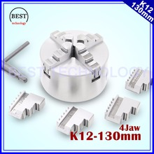 130mm 4 jaw Chuck self-centering manual chuck four jaw K12 – 130mm for CNC Engraving Milling machine ,CNC  Lathe Machine!