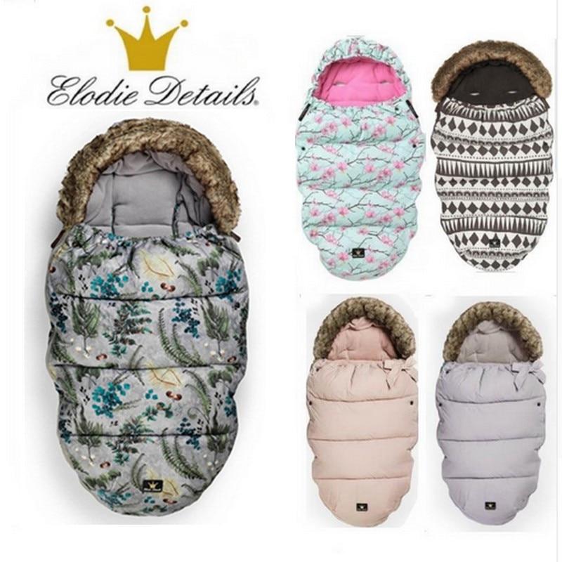 Elodie Details stroller Sleeping Bag baby footmuff with fake fur collar waterproof sleeping bag warmer stroller