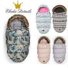 Elodie детали коляска спальный мешок конверт для младенцев с поддельным меховым воротником водостойкий спальный мешок грелка коляска sleepsack