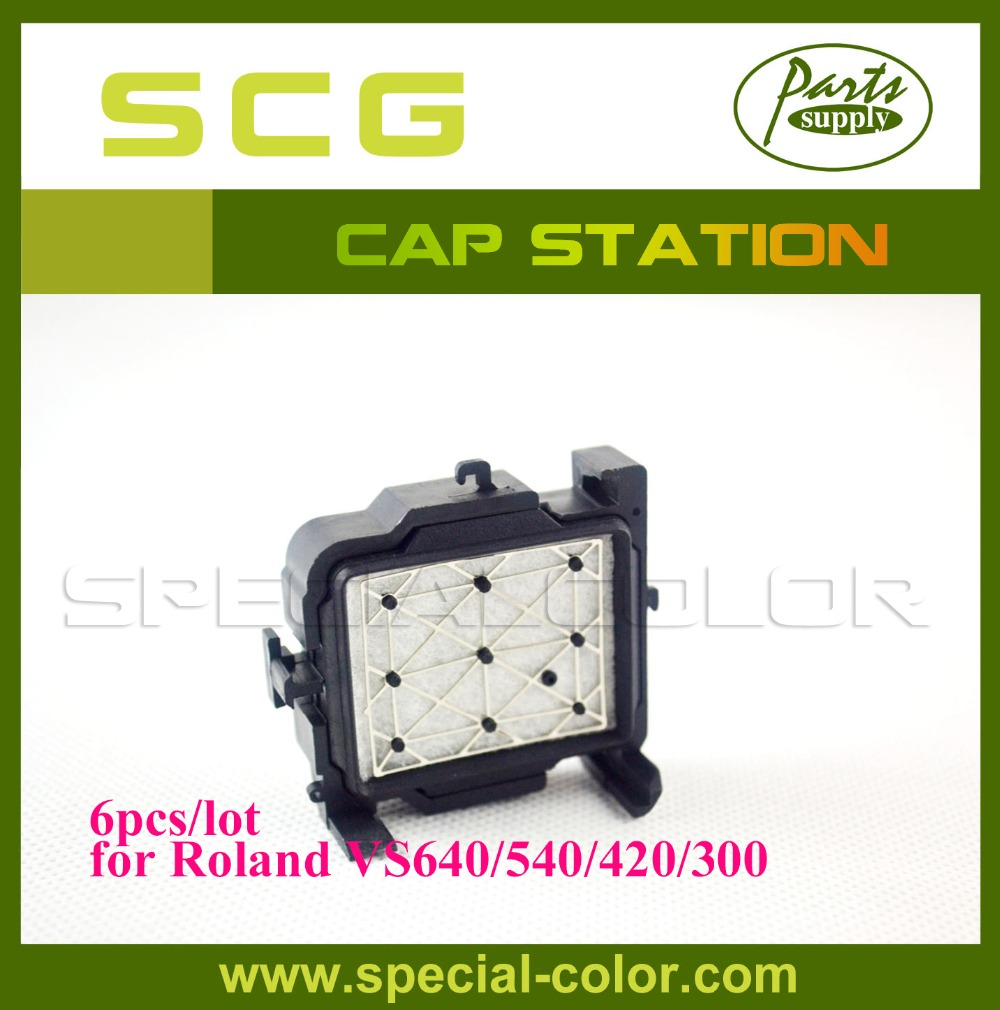 ФОТО New Arrival! DX7 Printer Capping Station for Roland VS640/540 Cap Top 6pcs/pack