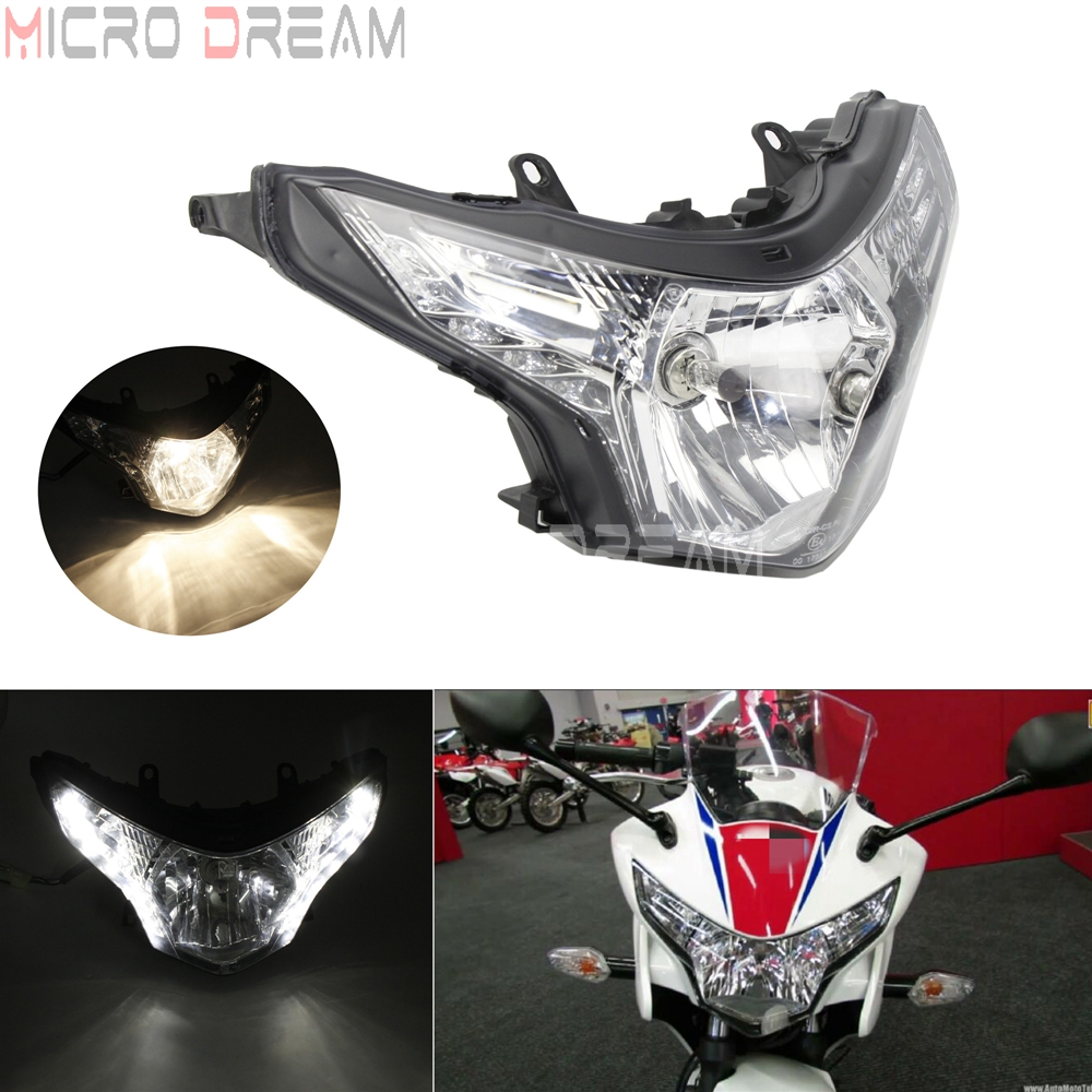 12V 55/60W Street <font><b>Motorcycle</b></font> <font><b>LED</b></font> Headlight <font><b>H4</b></font> <font><b>Bulb</b></font> Daytime Running Head Light For Honda CBR250R 2008-2013 E-Mark Headlamp image