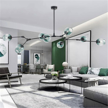 Modern Chandelier Lighting Living Dining Room Study Chandeliers Ceiling French Country Reading Cafe Loft Coffee Glass lustre loft chandeliers black gold bar stair dining living room glass lindsey adelman e27 holders ceiling chandelier lighting fixtures