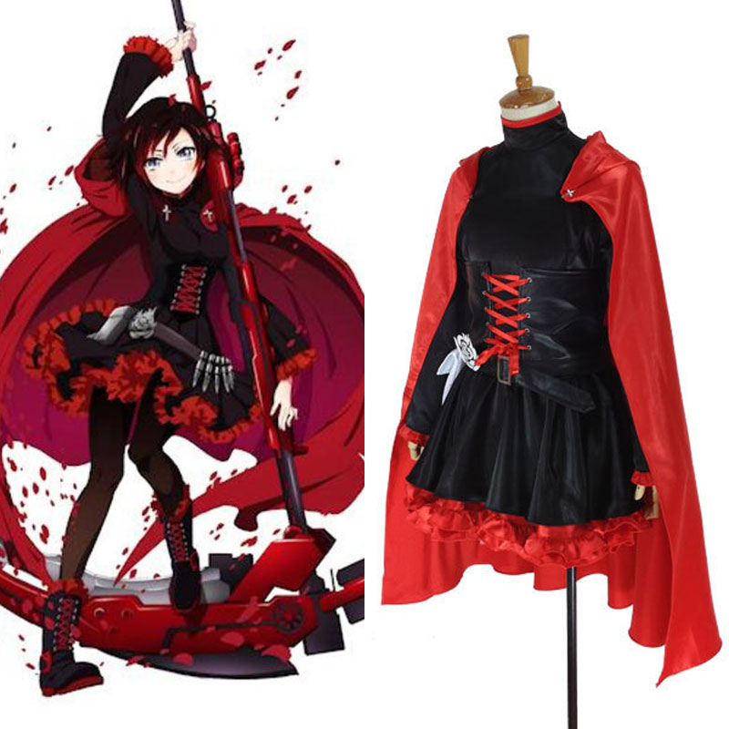 New Rwby Red Trailer Ruby Rose Full Set Cosplay Suit Women S