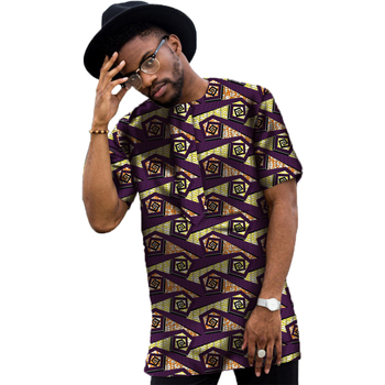 Conventional Dashiki Men Dress Fashion Print Short Sleeve Tops Man T shirt Africa Style Design Festive Costume African Clothes 3