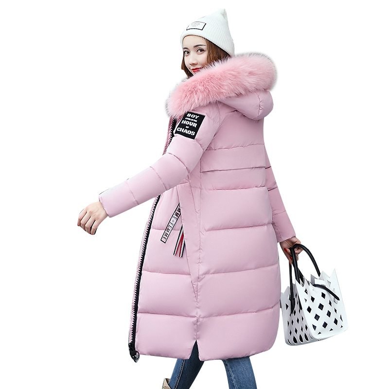 Plus Size M~3XL Women Winter Coat Jacket Warm   Parkas   Fur Collar Female Outerwear High Quality Cotton Coat Long Winter Jacket
