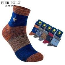 5pairs lot High Quality PIER POLO Brand Men Thick Socks Meias Winter Warm Socks Cotton Cool
