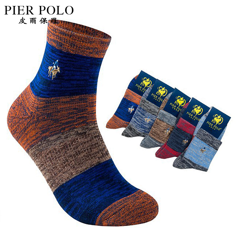 Embroidery Crow Printing Winter Autumn Warm Cotton Breathable Men/'s Casual Socks