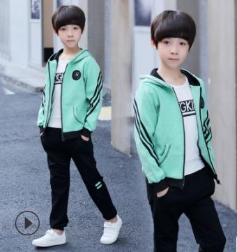 ec68e614 2018 New Arrival Teen Boys Clothing Sets Kids Tracksuits Sport Suit Spring  Autumn Clothes Children Casual Sets