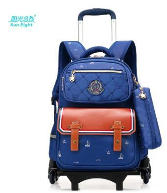 eb29ba5784b7 Children Trolley School Bags Rolling Backpack Bags For Teenager Kids  Wheeled Backpacks Children Travel luggage bags On wheels -in School Bags  from Luggage ...