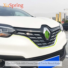 For Renault Kadjar 2016 2017 2018 2019 Front Mesh Grille Cover Trim Bonnet Garnish Molding Guard Protector Car Styling Stickers