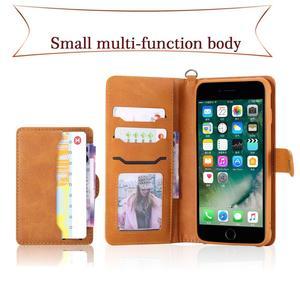 Image 3 - Flip Case Voor Iphone 7 8 Plus Luxe Afneembare Lederen Portemonnee Telefoon Gevallen Magneet Cover Voor Iphone 11 Pro 8 plus 7Plus Xs Xr X