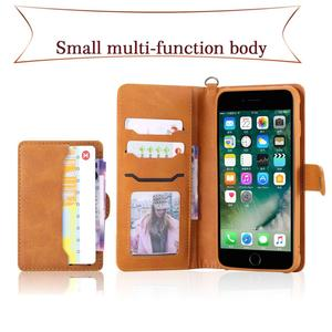 Image 3 - Flip Case for iPhone 7 8 Plus Luxury Detachable Leather Wallet Phone Cases Magnet Cover for iPhone 11 Pro 8 Plus 7Plus XS XR X