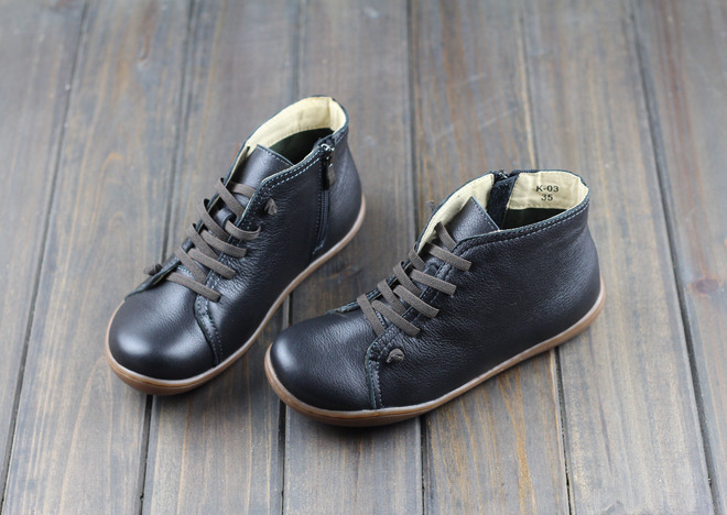 (35-46)Boots Women Shoes Hand-made Genuine Leather Ankle Boots for Women Square toe Zip Ladies Boots Female Footwear (K03) 12