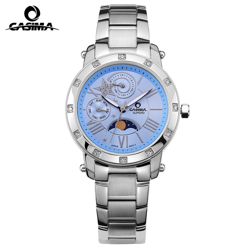 CASIMA Fashion brand ladies watches casual outdoor sports quartz watch girl women waterproof 50m steel table relogio feminino
