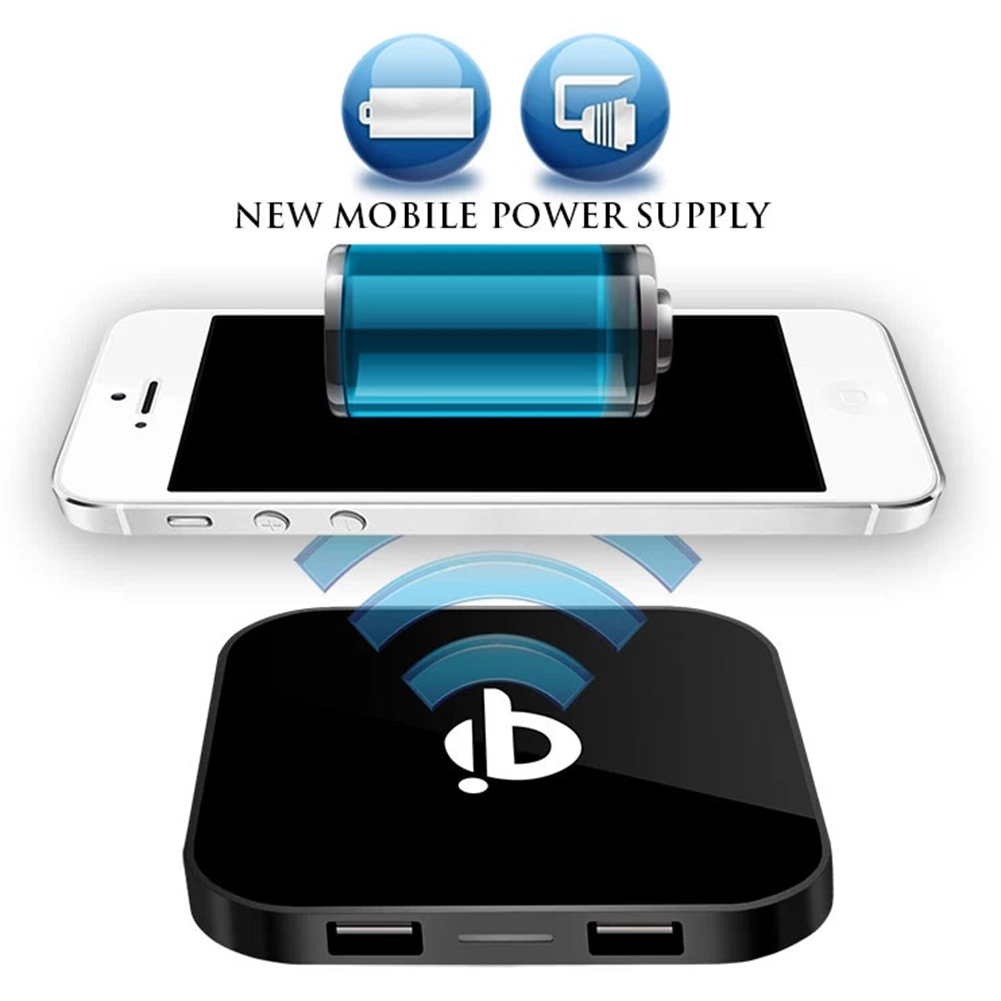 Universal Mobile Phone Qi Wireless Chargers Square Dual
