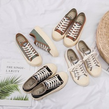 Liren 2019 Summer New Casual Lady Canvas Shoes Comfortable Breathable for Sport Lace-up Women Designer Sneakers