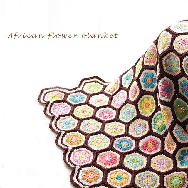Estilo africano pastoral ganchillo hechos a mano de flores alfombra ...