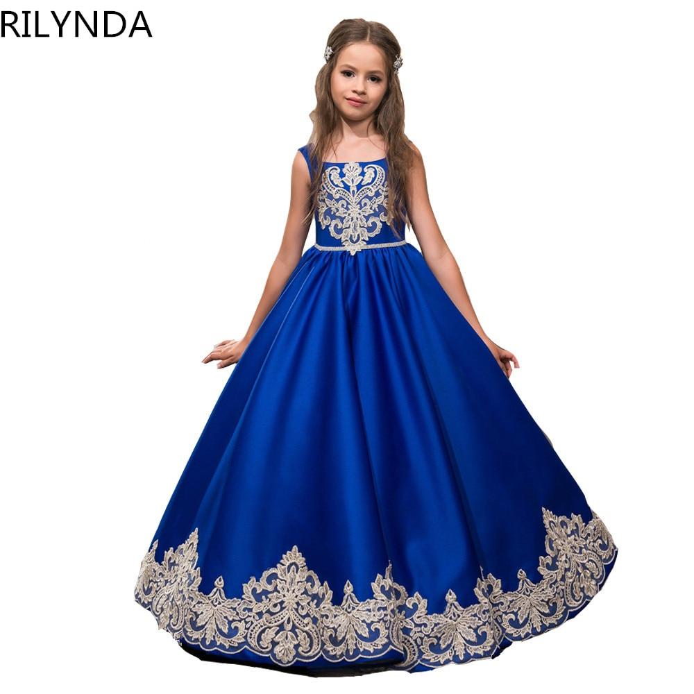 Royal Blue Flower Girl Dresses for Wedding Cinderella Girls Dress Princess Children Party Ball Gown First Communion Dress