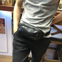 Xiao P New Brand Waist Bag Design Fashion Waist Packs Black Pu Leather Men Bag Casual