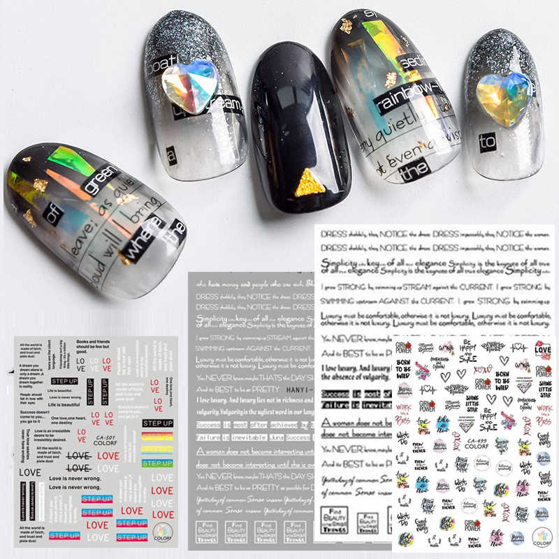 Newest 3d nail art sticker SOLONAIL hanyi-224-225  Stamp  Decals Tool DIY Nail Decoration Tools nail art decal tools