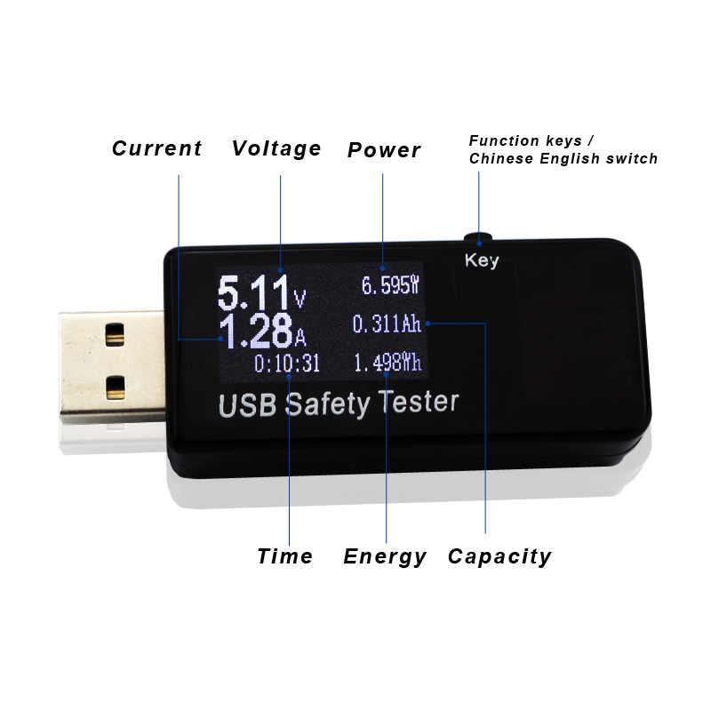 Цифровой диспплей 3 V-30 V usb-тестер напряжение тока зарядное устройство ёмкость доктор qc2.0/3,0 быстрое зарядное устройство power bank вольтметр