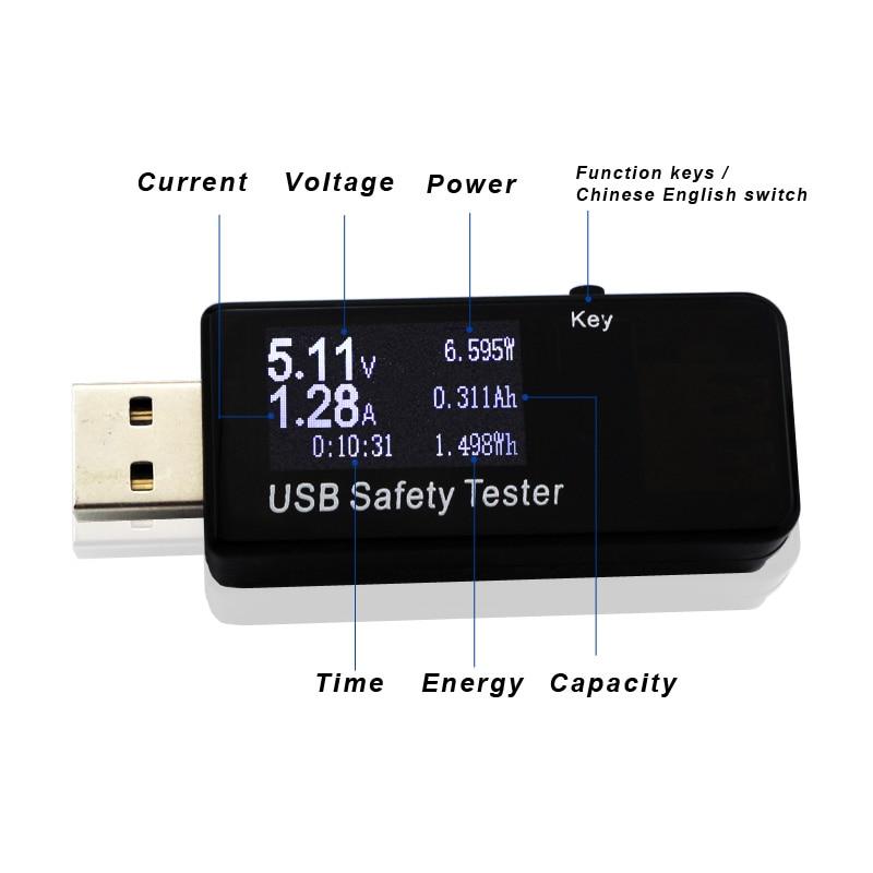 Skaitmeninis dispoy 3V-30V USB testeris dabartinės įtampos - Matavimo prietaisai - Nuotrauka 5